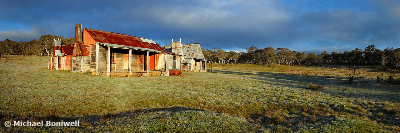 Morning Light finds Coolamine Homestead, Kosciuszko National Park, New South Wales, Australia