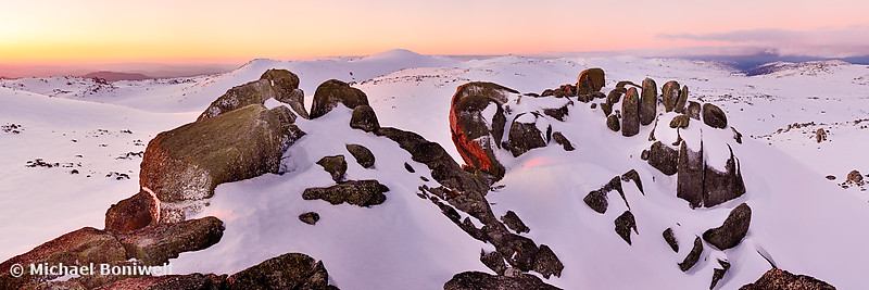 Summit from North Rams Head, Mt Kosciuszko, New South Wales, Australia