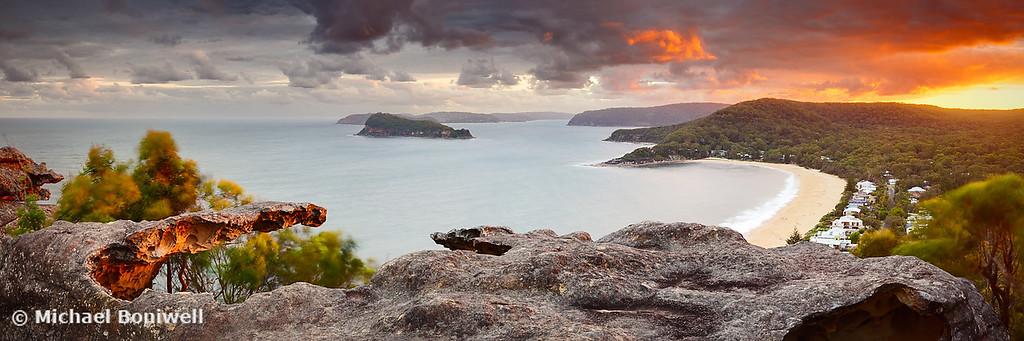 Pearl Beach from Mt Ettalong, New South Wales, Australia