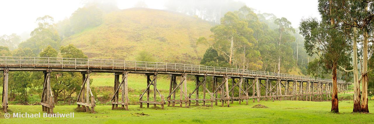 Foggy Trestle Bridge, Timboon, Victoria, Australia