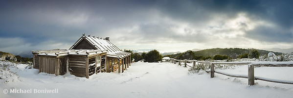 Craigs Hut Winter Morning, Mt Stirling, Victoria, Australia