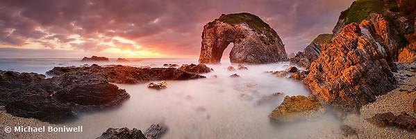 Horse Head Rock Dawn, Bermagui, New South Wales, Australia