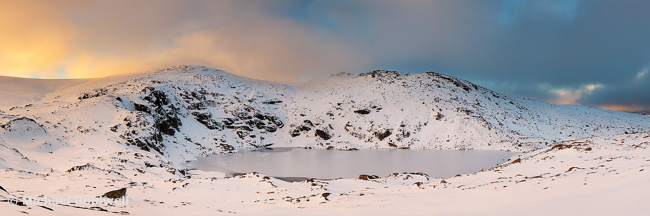 Winter finds Blue Lake, Kosciuszko National Park, New South Wales, Australia