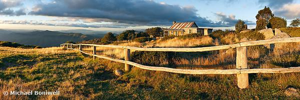 Craigs Hut Autumn Sunset, Victoria, Australia