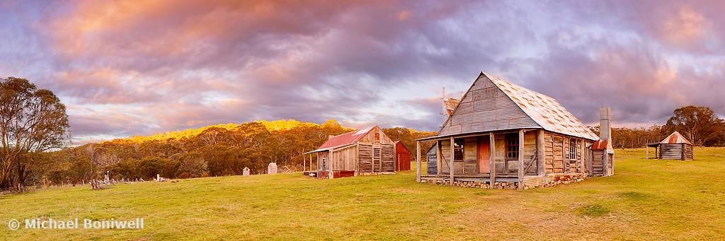 Coolamine Homestead Sunset, Kosciuszko National Park, New South Wales, Australia