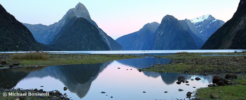 Milford Sound Dawn, South Island, New Zealand