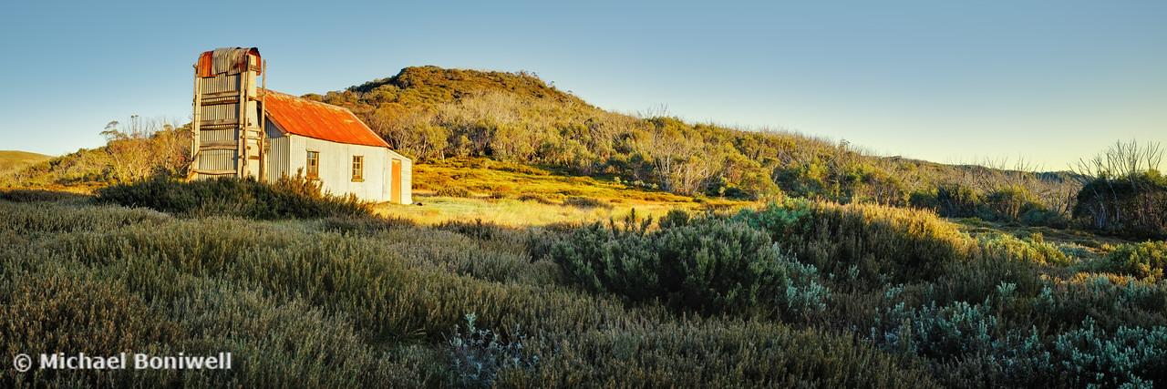 Spargos Hut Dawn, Mount Hotham, Victoria, Australia