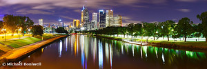 Yarra River by Night, Melbourne, Victoria, Australia