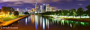 Yarra River by Night, Melbourne, Victoria, Australia
