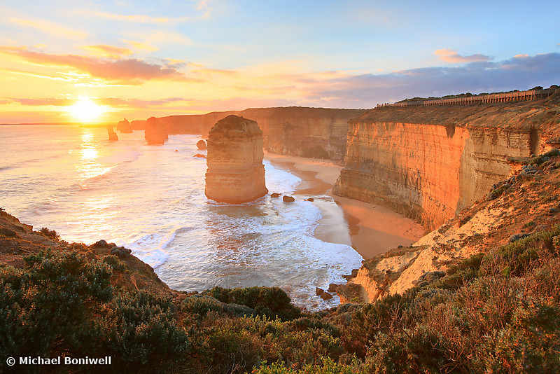 Twelve Apostles Sunset, Great Ocean Road, Victoria, Australia