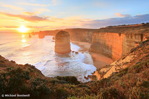 Twelve Apostles Sunset, Great Ocean Road, Victoria, Australia